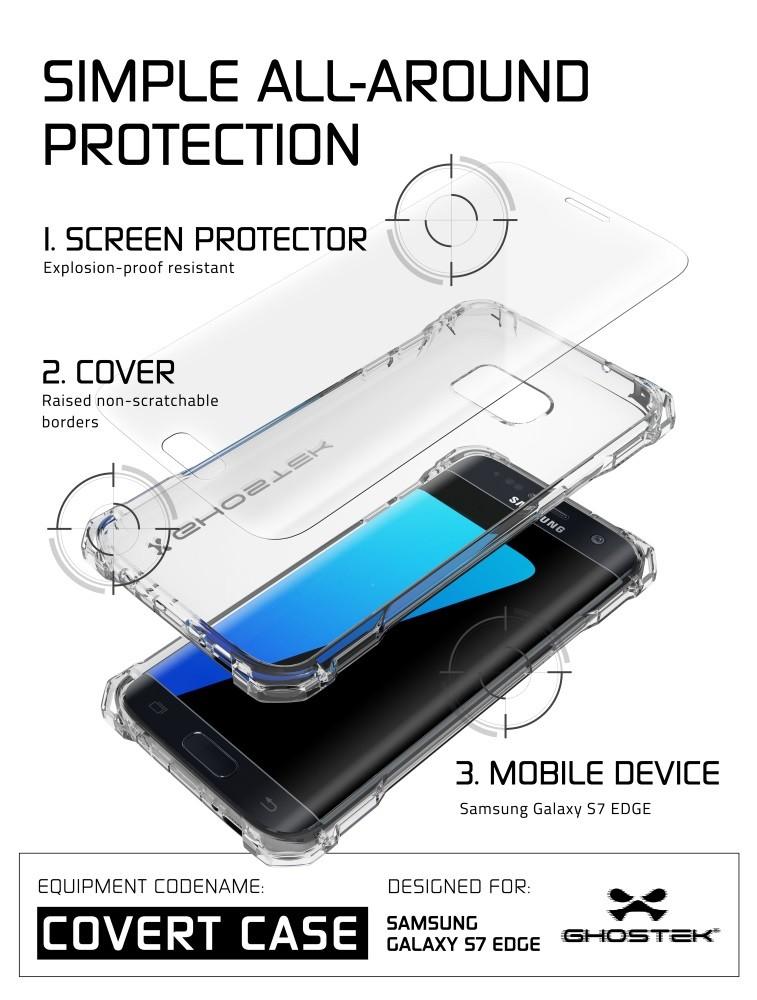 82764027634 Case protector Ghostek Covert Series Cristal – Samsung Galaxy S7 Edge |  Identidad Movil: Fundas y Estuches para SmartPhones